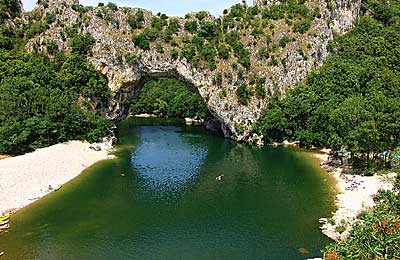 Pont d`Arc in der Ardeche